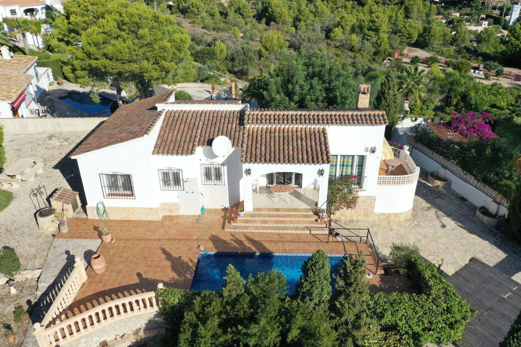 Villa con vista la mar en venta en Moraira